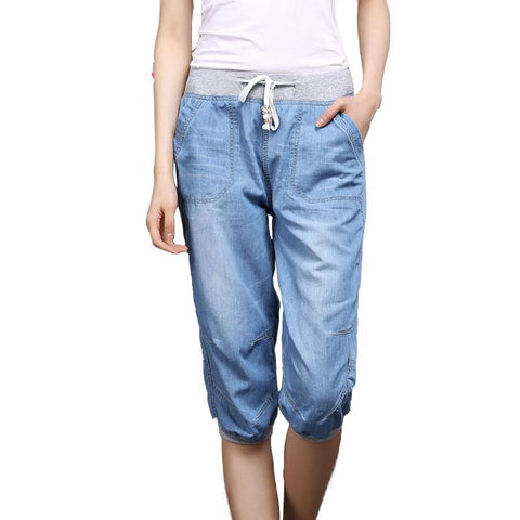 Unique Soft Denim Harem Pants