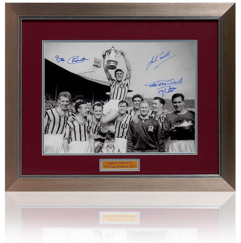 Aston Villa 1957 FA Cup Final hand signed by 4 players (PP410)