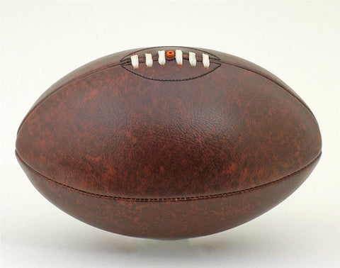 Brand New Vintage PU Leather-Look Full Size Brown Rugby Ball Vintage Antique Look
