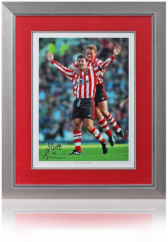 Matt Le Tisier Hand Signed Southampton framed AFTAL Photo Proof COA