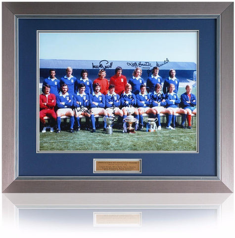 Ipswich 1973 Hand signed 16x12'' Texaco Cup Winners Teamgroup photo AFTAL COA