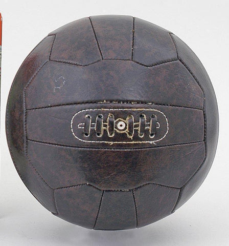 Vintage Leather-look PU Football Retro style 18 panel size 5 ball