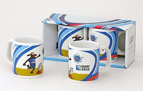 IRB World Cup 2015 Rugby Union 'Shaun The Sheep' Twin Mini Mug Cup Sets