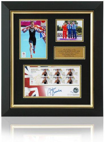 Alistair Brownlee Hand Signed FDC Stamp Presentation London 2012 Olympics