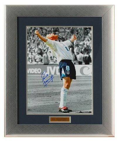 Paul Gascoigne 'Goal' Celebration for England Euro 96 hand signed 16 x 12'' photograph (PPE556)