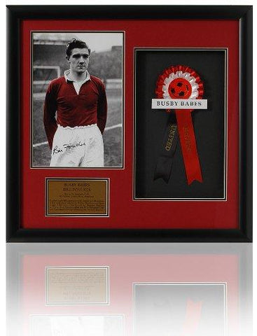 Large Bill Foulkes hand signed Manchester United Busby Babes presentation (LOT589)