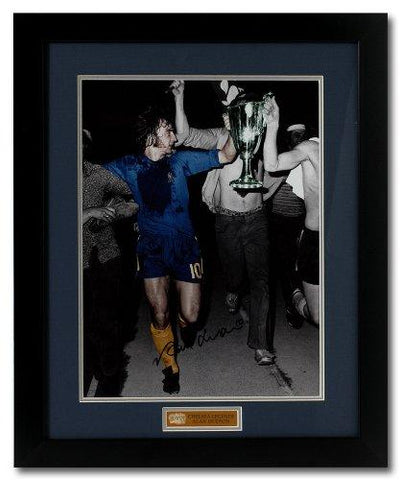 Alan Hudson hand signed Chelsea Cup Winners Cup 16x12'' photograph