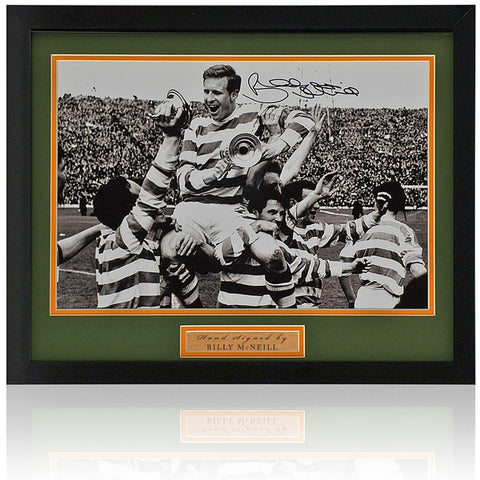 Billy McNeill Hand Signed Celtic Scottish Cup 12x8'' Photograph AFTAL COA