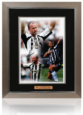 Alan Shearer Hand Signed & Framed 16x12'' Newcastle United Montage (PPNU602)