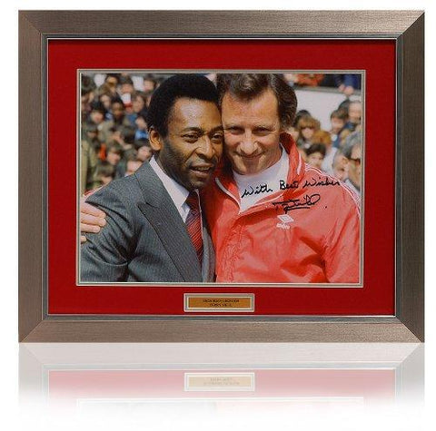 Large Terry Neill hand signed Pele Arsenal photograph (PP407)