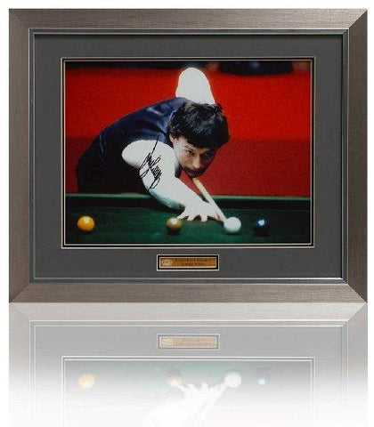 Jimmy White Hand Signed 16 x 12'' Framed Snooker Photograph AFTAL COA