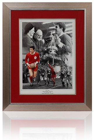 Ron Yeats Trophy hand signed 16 x 12'' Trophy Montage.