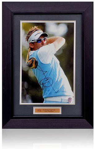 Ian Poulter Hand Signed 12x8'' Framed Golf Photograph AFTAL COA