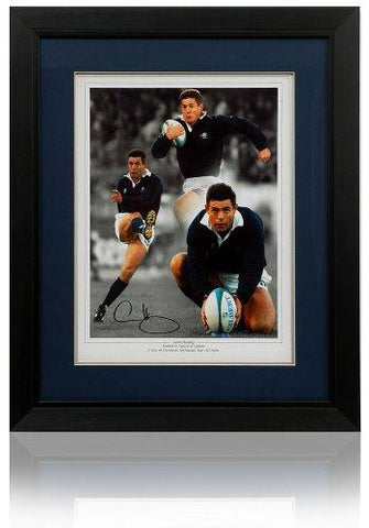 Gavin Hastings large hand signed Scotland Rugby Montage (PP580)