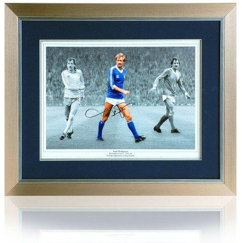 Frank Worthington hand signed 16 x 12'' Birmingham City Montage.
