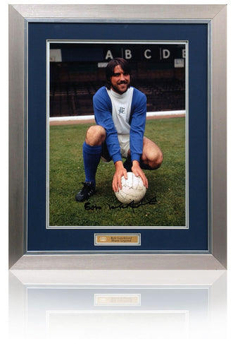 Bob Latchford Hand Signed 16x12 Framed Birmingham City Photograph (PP587)