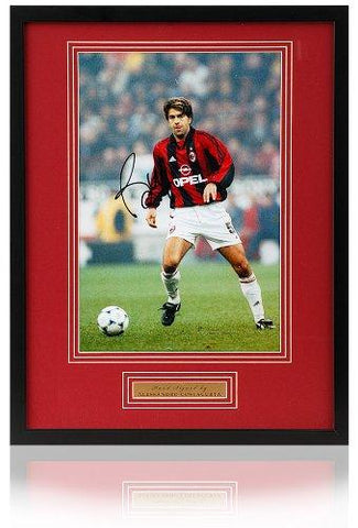 Alessandro Costacurta hand signed 12x8 AC Milan photo