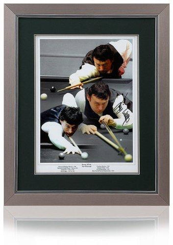 Jimmy White hand signed 16x12'' Snooker Montage