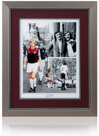 Alan Taylor hand signed 16x12'' West Ham United F.C. Montage
