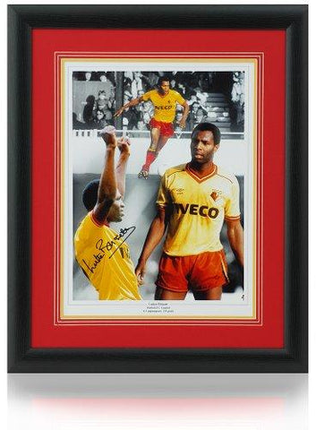 Luther Blissett hand signed WATFORD FC 16x12'' montage