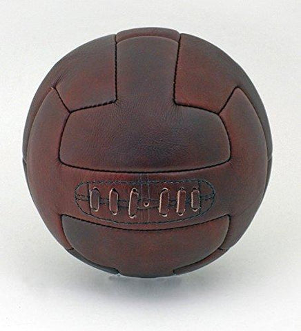 Vintage Leather 1930's style leather T-Bar hand stitched size 5 Football ball