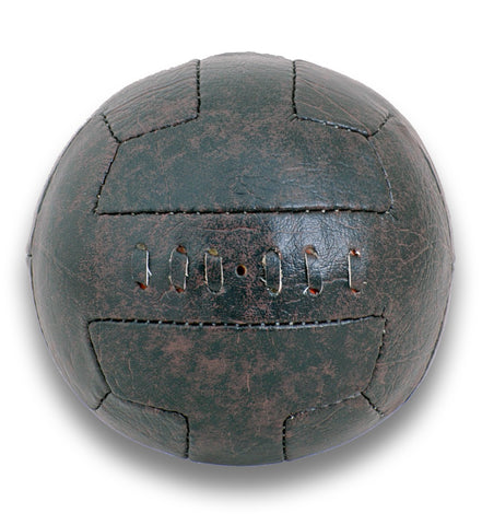 Vintage Leather-look PU 1930's style T-Bar Mini Football size 1 ball