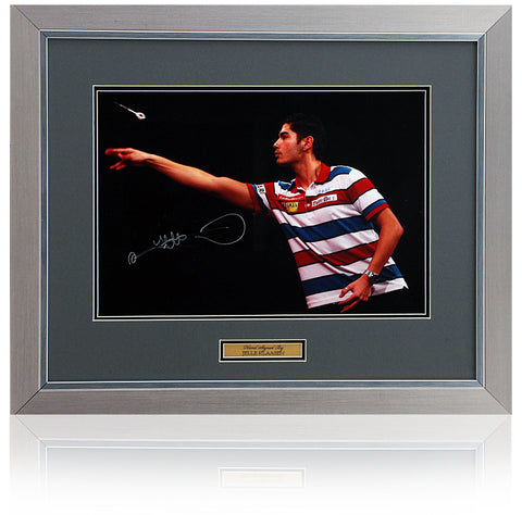 Jelle 'The Cobra' Klaasen Hand Signed 16x12'' Framed Darts Photograph AFTAL COA Netherlands