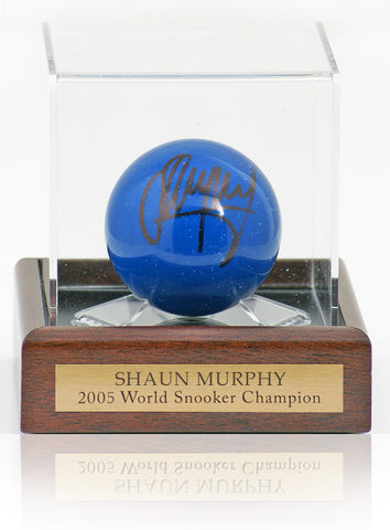 Blue Snooker Ball hand signed by Shaun Murphy AFTAL photo proof COA