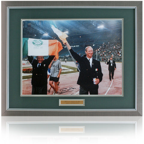 "Jack Charlton Hand Signed 16x12"" Republic of Ireland Photo AFTAL COA"