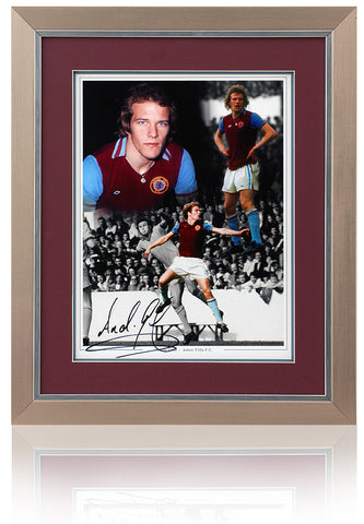 Andy Gray hand signed 16 x 12'' Aston Villa montage