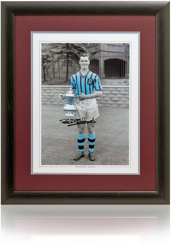Peter McParland hand signed 16 x 12'' Aston Villa photograph