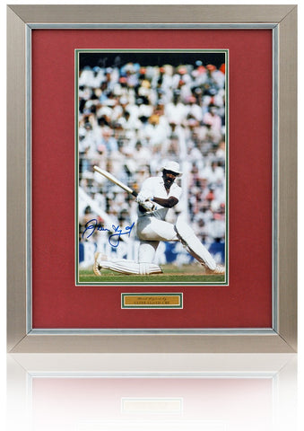Clive Lloyd hand signed 16x12'' Cricket photo