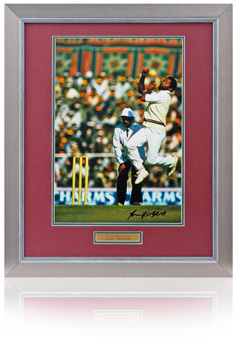 Andy Roberts hand signed 16x12'' Cricket photo