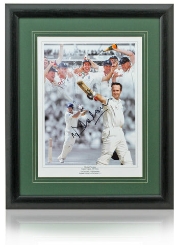 Michael Vaughan Hand Signed 16x12'' England Cricket Montage Photo COA