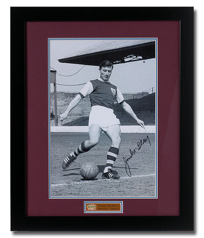 Jimmy McIlroy hand signed 16x12'' Burnley photo