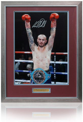 Kevin Mitchell hand signed 16x12'' Boxing photo