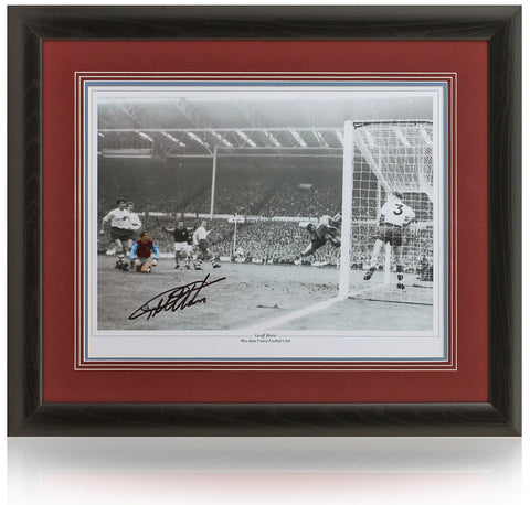Geoff Hurst hand signed 16x12'' West Ham United photo