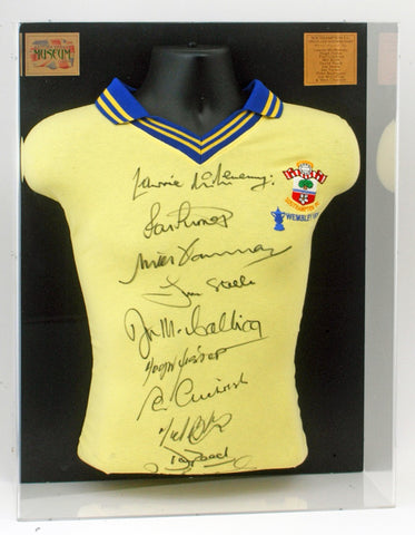 Southampton 1976 team signed FA Cup Final shirt