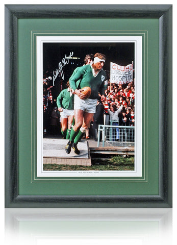 Willie John McBride Hand Signed 16x12'' British & Irish Lions Rugby Photo AFTAL COA