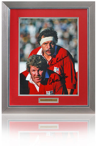 Bill Beaumont & Graham Price hand signed 16x12'' British & Irish Lions photo