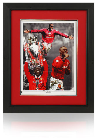 Andy Cole hand signed 16x12'' Manchester United montage