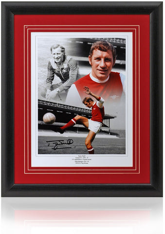 Terry Neill hand signed 16x12'' Arsenal montage