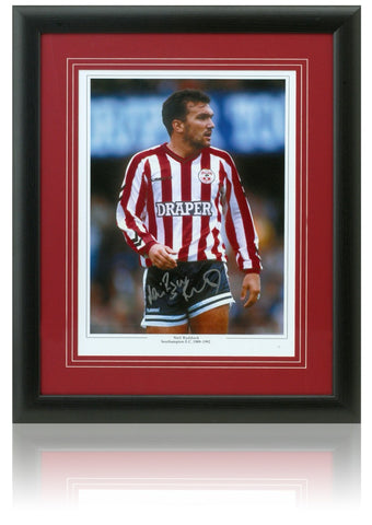 Neil Ruddock hand signed 16x12'' Southampton FC photo.