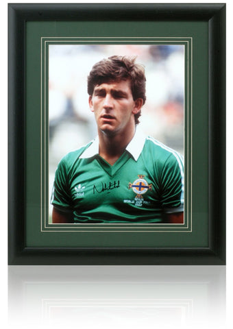 Norman Whiteside hand signed 16x12'' Northern Ireland Football photograph