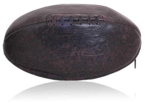 PU Leather Rugby Ball Wash Bag (Retro)