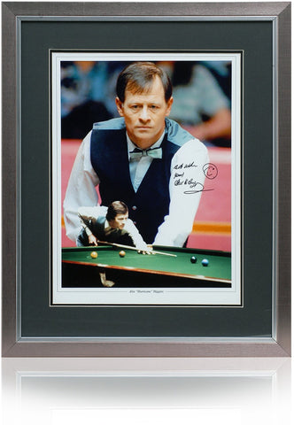 Alex Higgins Hand Signed 16x12'' Framed Snooker Photograph Photo COA