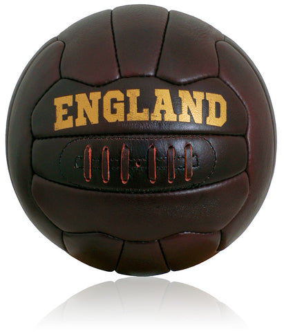New Vintage Leather England Football size 5 ball Retro style 18 panel hand stitched FT03E