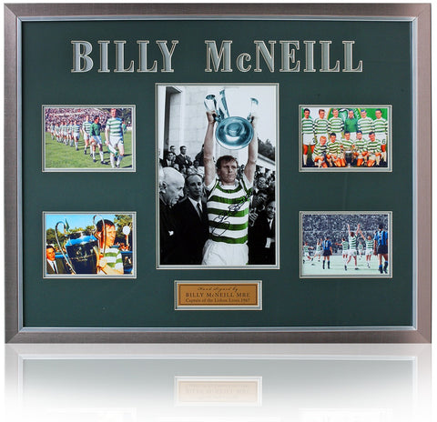 Billy McNeill Celtic Lisbon Lions hand signed Presentation AFTAL COA