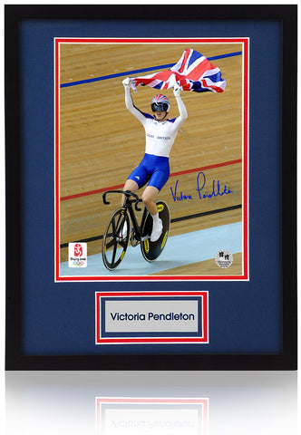 Victoria Pendleton Hand Signed Team GB Official Olympics 10X8'' Framed Photograph COA