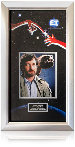 Steven Spielberg Hand Signed E.T. the Extra-Terrestrial Presentation